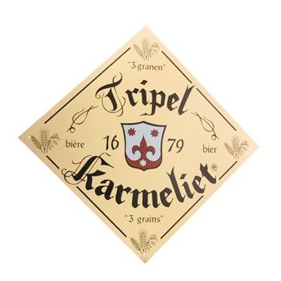Plaque publicitaire biere belge Triple Karmeliet