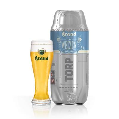 The Torp Brand Weizen Et son Verre - 2L (Futs de bière 2litres)