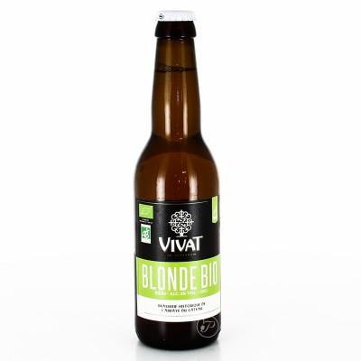 Bière Vivat - Blonde Bio - 33cl (Bouteille de bière)