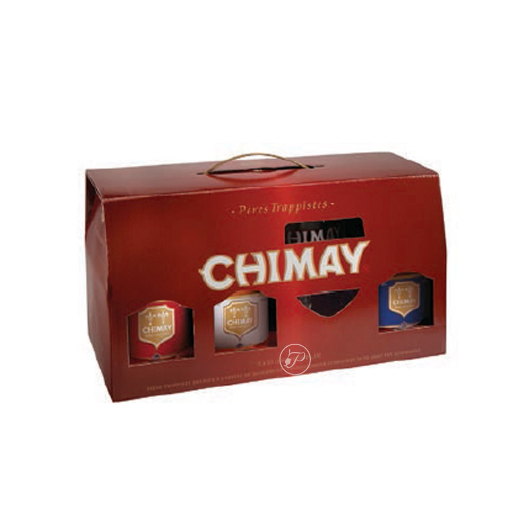 coffret de bi re chimay 6x33cl 4 verre. Black Bedroom Furniture Sets. Home Design Ideas