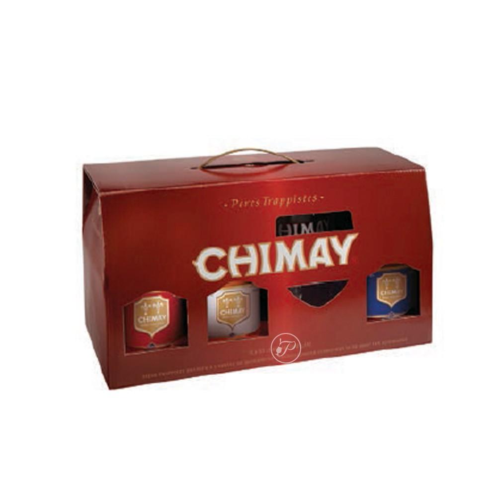 Coffret de bi re chimay 6x33cl 4 verre - Coffret verre a biere ...