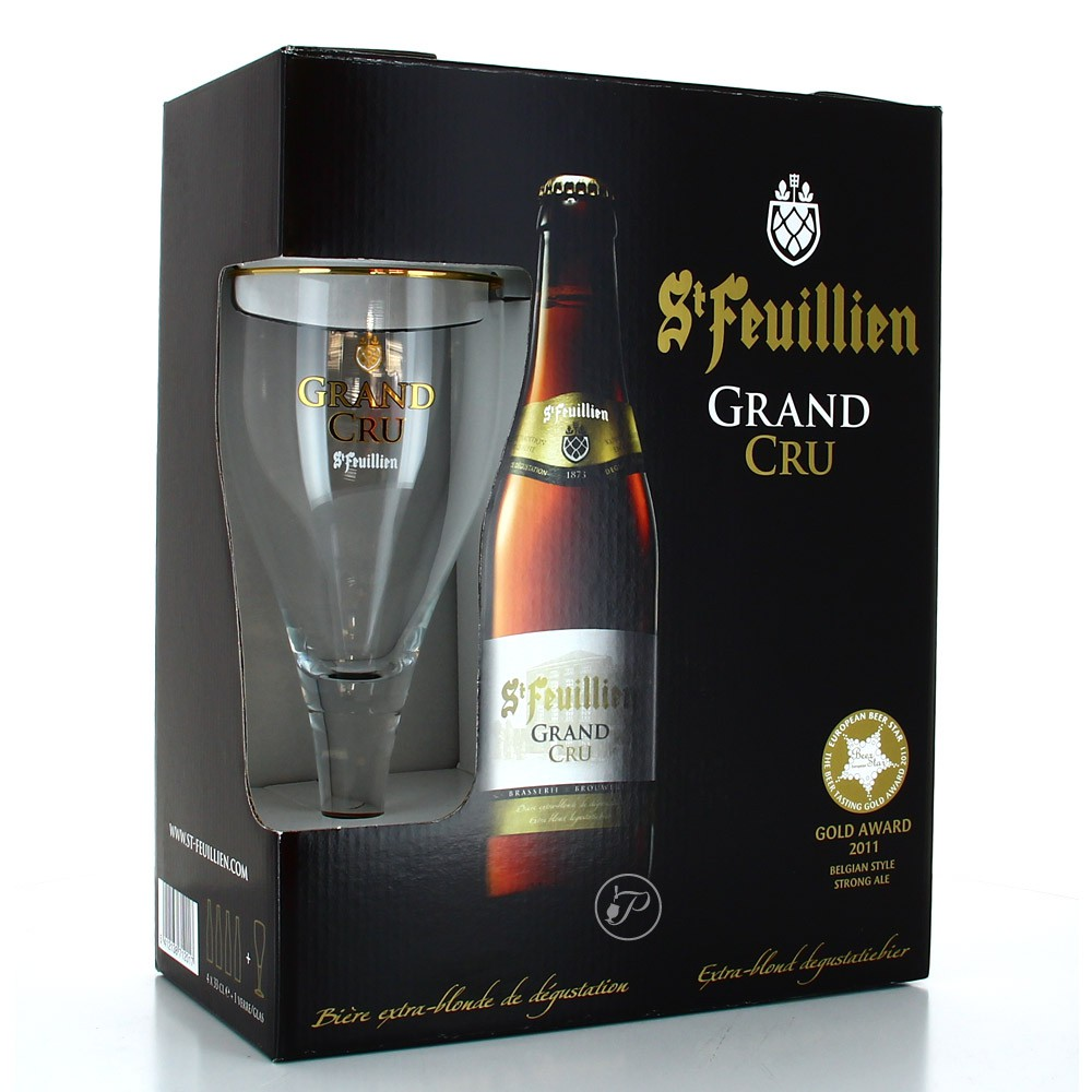 coffret st feuillien grand cru 4 bouteilles 33cl 1 verre. Black Bedroom Furniture Sets. Home Design Ideas