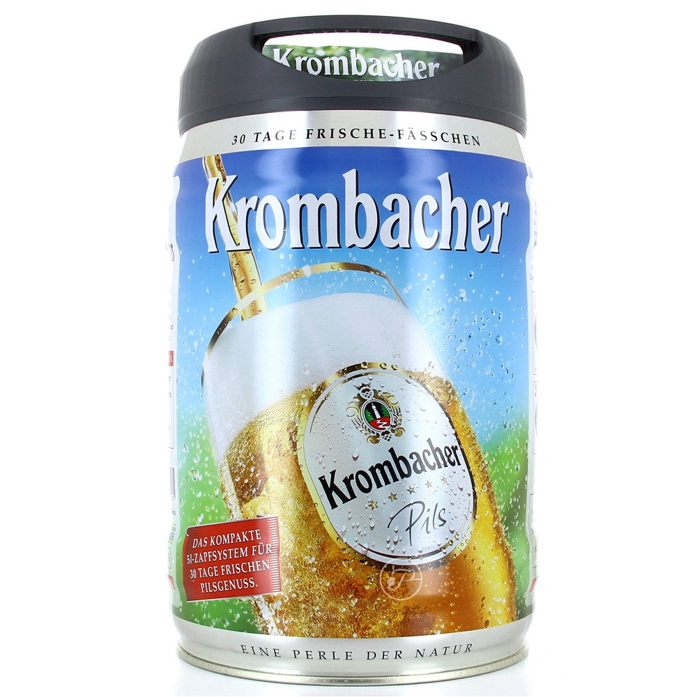 biere krombacher pils beertender achat vente futs de bi re 5 litres. Black Bedroom Furniture Sets. Home Design Ideas