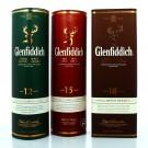 Coffret Trio Glenfiddich 12 ans, 15ans et 18ans
