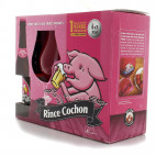 Coffret Rince Cochon Rouge - 3 bouteilles 33cl et 1 verre cochon rose