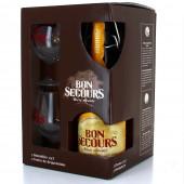Coffret Bon Secours - 3 bouteilles 33cl + 1 verre (Coffret de bière)
