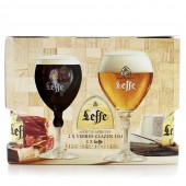 Coffret de bières Leffe Family et 2 verres