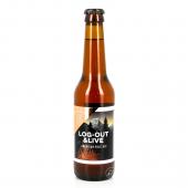 Bouteille de bière WHITE FRONTIER LOG OUT 1 LIVE 5° VP33CL