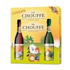 Coffret de 2 bouteilles La Chouffe 75 cl et  verre