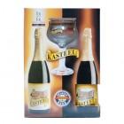 Coffret de 2 bouteilles de biere belge KASTEEL et 1 verre