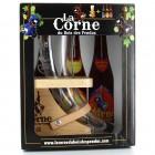 Coffret de bière la Corne du Bois des Pendus - 1 verre et 3 bouteilles 33cl