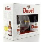 Coffret de 2 bouteilles de bière Duvel et 1 verre