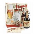 Coffret de 2 bouteilles de bière bière HOPUS et 2 verres