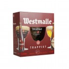 Coffret de 2 bouteilles de bière Westmalle et 1 verre