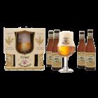 Coffret de 4 bouteilles de bières Karmeliet 33cl et 1 verre 33cl