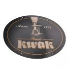 Plaque publicitaire biere belge Kwak