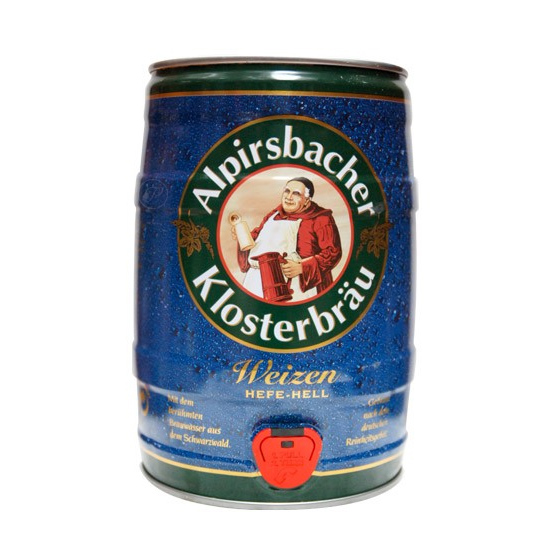 Fut bière Allemande ALPIRSBACHER WEISS HELL 5L