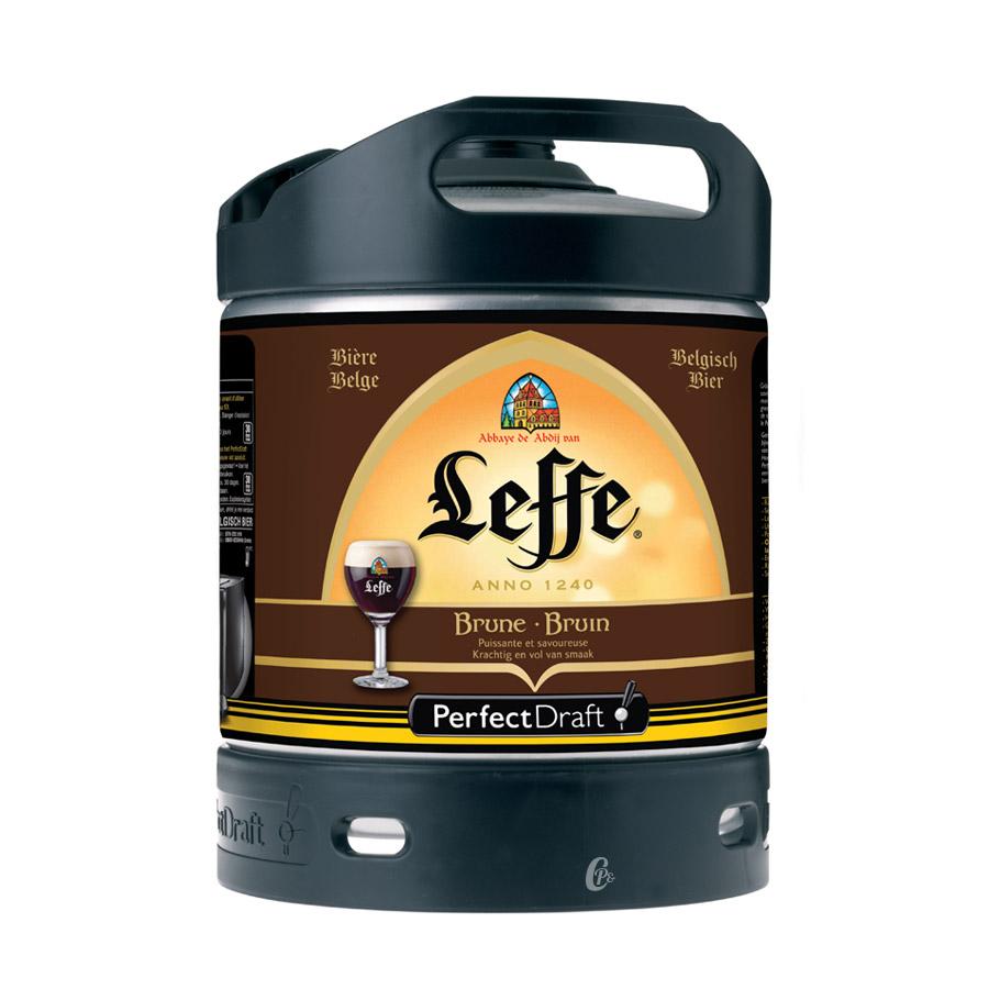 Biere Leffe brune 6L. Fut de bière Leffe Brune en fut de 6 LitresPour amateur de bière BruneDe couleur acajou, Leffe Brune est une biere