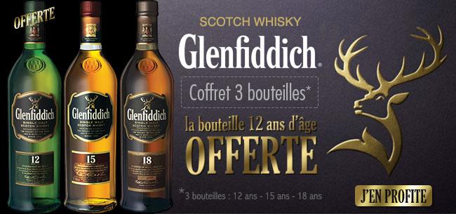 Coffret Glenfiddich : découvrez les whisky ecossais dont la 12 Ans offerte