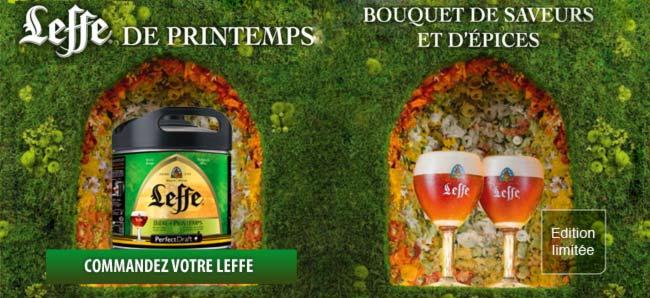 Le Fut de bière Leffe Printemps Perfectdraft est en stock