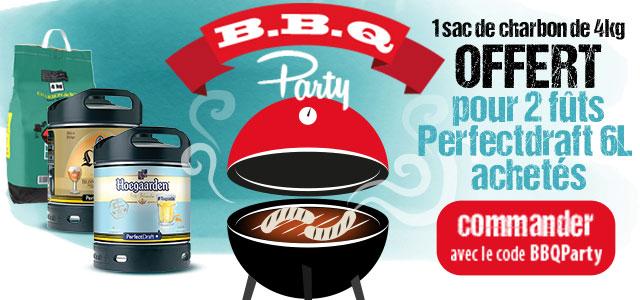 Barbecue Party : 1 sac de charbon de 4kg Offert pour 2 futs achetés avec le code BBQParty