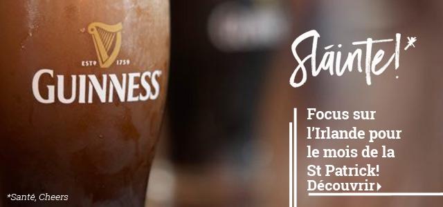 Focus sur la Brasserie Guinness, pour la St Patrick.