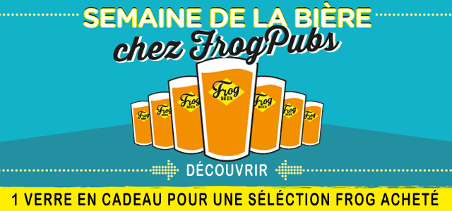 Découvrez les bières FROG, un verre offert