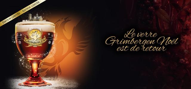 Le verre Grimbergen de Noel est de retour