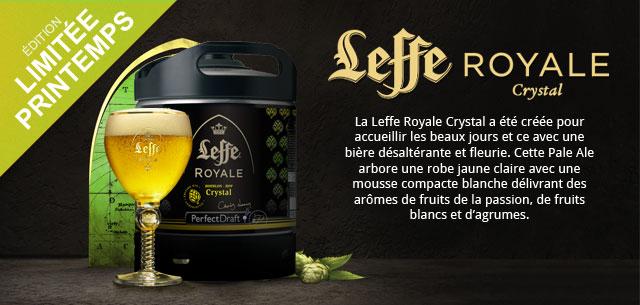 Le Fut de bière Leffe Royale Crystal Perfectdraft est en stock
