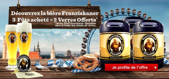 Découvrez les bières Allemande PerfectDraft : Franziskaner avec 2 verres Offerts