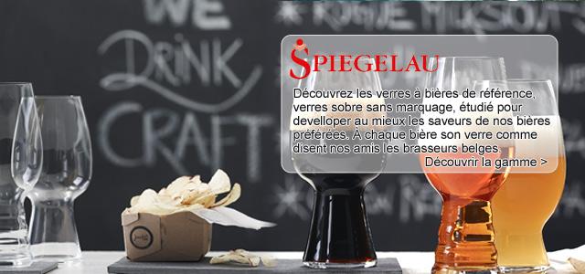 Découvrez la gamme des verres à bières Craft : Découvrez les verres à bières de référence, verres sobre sans marquage, étudié pour develloper au mieux les saveurs de nos bières préférées. à chaque bière son verre comme disent nos amis les brasseurs belges.