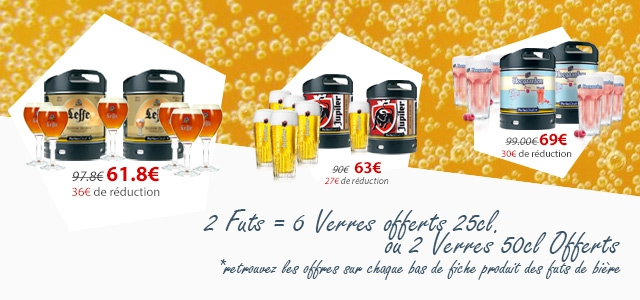 #aperoparfait 6 Verres offerts pour l'achats de 2 futs de bière Perfectdraft