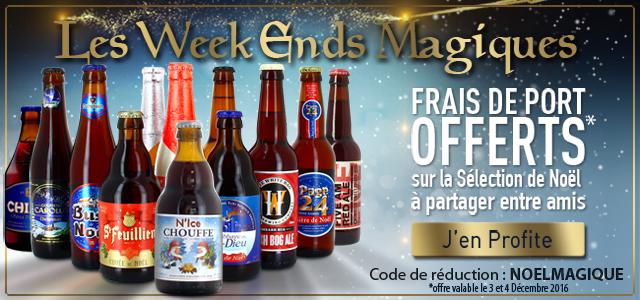 Les Weekends Magique de Noël : Découvrez le lot de Noël : 12 Saveurs à partageravec les frais de livraison gratuit