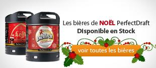 Le Leffe de Noel PerfectDraft et le Diekirch de Noël disponible en stock rien que pour vous
