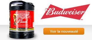 Découvrez la bière américaine Budweiser en futd e Perfectdraft