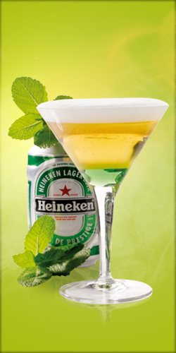 cocktail biere heineken passion verte
