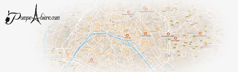 Découvrez la carte des Brasseries de Paris